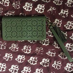 Green Snap-Closure Wallet